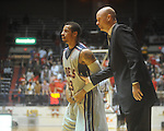 "Ole Miss guard Trevor Gaskins (23) and coach Andy Kennedy at the C.M. ""Tad"" Smith Coliseum in Oxford, Miss. on Wednesday, November 17, 2010."