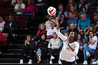 STANFORD, CA - October 14, 2016: Inky Ajanaku at Maples Pavilion. The Arizona Wildcats defeated the Cardinal 3-1.