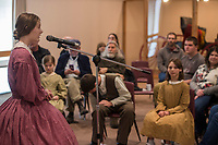 NWA Democrat-Gazette/ANTHONY REYES @NWATONYR<br /> Riona Davis, 14, with the Shiloh Balladeers, sings Wednesday, March 15, 2017 one of several folk ballads at the Shiloh Museum of Ozark History in Springdale. Davis joined other singers and performed songs like &quot;Skip to My Lou,&quot; &quot;Bangum and the Boar&quot; and &quot;The Dewy Dens of Yarrow&quot; which all link back to the Ozarks, though they may have long histories.