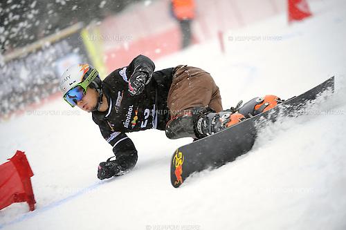 Masaki Shiba (JPN), DECEMBER 16, 2014 - Snowboarding : Snowboard World Cup Men's Parallel Giant Slalom in Carezza, Italy. (Photo by Hiroyuki Sato/AFLO) [2016]