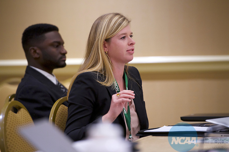 18 JAN 2017: The Division I Student Athlete Advisory Committee meeting takes place during the 2017 NCAA Convention at the Gaylord Opryland Resort and Convention Center in Nashville, TN.  Jamie Schwaberow/NCAA Photos  (Pictured:  Catherine Ragon)