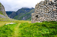 Norway, Lofoten. Eggum is located on the north side of Vestvågøya. The fortification Borga on Eggum was a German radar station during the second world war.