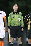 08 October 2013: Assistant Referee Cory Richardson. The University of North Carolina Tar Heels hosted the Clemson University Tigers at Fetzer Field in Chapel Hill, NC in a 2013 NCAA Division I Men's Soccer match. Clemson won the game 2-1 in overtime.