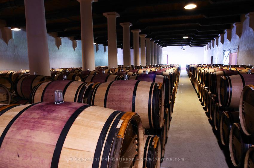 barrel cellar chateau margaux medoc bordeaux france