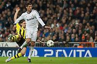 Cristiano Ronaldo pursuing by defender