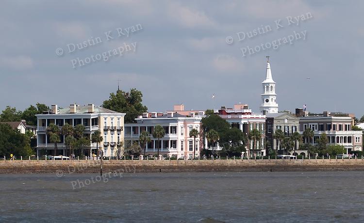 Historic Charleston Battery Row in Downtown Charleston South Carolina White Point Gardens