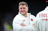 England Rugby Scrum Coach Neal Hatley looks on after the match. RBS Six Nations match between England and France on February 4, 2017 at Twickenham Stadium in London, England. Photo by: Patrick Khachfe / Onside Images