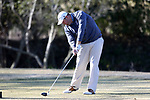 WILMINGTON, NC - MARCH 19: UNC Wilmington's Austin Inman tees off the Ocean Course fifth hole. The first round of the 2017 Seahawk Intercollegiate Men's Golf Tournament was held on March 19, 2017, at the Country Club of Landover Nicklaus Course in Wilmington, NC.