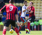 St Johnstone v Real Sociadad...12.07.15  Bayview, Methil (Home of East Fife FC)<br /> Liam Craig back in a saints shirt appearing as a trialist pictured with Markel Bergara<br /> Picture by Graeme Hart.<br /> Copyright Perthshire Picture Agency<br /> Tel: 01738 623350  Mobile: 07990 594431