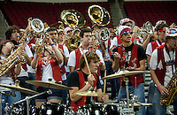 FRESNO, CA--The Stanford Band rallies the Cardinal fans during a 76-60 win over South Carolina at the Save Mart Center for the West Regionals semifinals of the 2012 NCAA Championships.