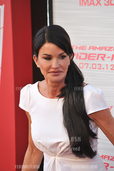 """Janice Dickinson at the world premiere of """"The Amazing Spider-Man"""" at Regency Village Theatre, Westwood..June 29, 2012  Los Angeles, CA.Picture: Paul Smith / Featureflash"""