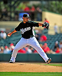 1 March 2009: Florida Marlins' starting pitcher Anibal Sanchez on the mound during a Spring Training game against the St. Louis Cardinals at Roger Dean Stadium in Jupiter, Florida. The Cardinals outhit the Marlins 20-13 resulting in a 14-10 win for the Cards. Mandatory Photo Credit: Ed Wolfstein Photo