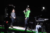 SCHAATSEN: AMSTERDAM: Olympisch Stadion, 01-03-2014, KPN NK Sprint/Allround, Coolste Baan van Nederland, Roel van Velzen en Ireen Wüst, ©foto Martin de Jong