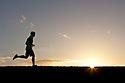 PE00258-00...WASHINGTON - Pierce Prohovost jogging in Edmonds. (MR# P9)