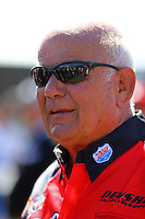 Jul. 27, 2014; Sonoma, CA, USA; NHRA funny car driver Gary Densham during the Sonoma Nationals at Sonoma Raceway. Mandatory Credit: Mark J. Rebilas-