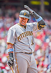 21 June 2015: Pittsburgh Pirates outfielder Jose Tabata steps up to bat against the Washington Nationals at Nationals Park in Washington, DC. The Nationals defeated the Pirates 9-2 to sweep their 3-game weekend series, and improve their record to 37-33. Mandatory Credit: Ed Wolfstein Photo *** RAW (NEF) Image File Available ***