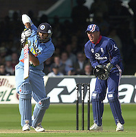 .29/06/2002.Sport - Cricket - .NatWest triangler Series England - Sri Lanka - India.England vs india 50 overs.  Lord's ground.Yuvraj Singh..