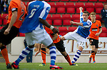 St Johnstone v Dundee United....01.09.12      SPL  .Peter Pawlett's shot is saved by Radoslaw Cierniak.Picture by Graeme Hart..Copyright Perthshire Picture Agency.Tel: 01738 623350  Mobile: 07990 594431
