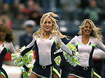 Seattle Seahawks dance team, the Seagals perform during their game with the  New York Giants at CenturyLink Field in Seattle, Washington on November 9, 2014. The Seahawks  beat the Giants 38-17.         ©2014. Jim Bryant Photo. All rights Reserved.