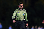 13 November 2015: Referee Matt Franz. The University of North Carolina Tar Heels hosted the Liberty University Flames at Fetzer Field in Chapel Hill, NC in a 2015 NCAA Division I Women's Soccer game. UNC won the game 3-0.