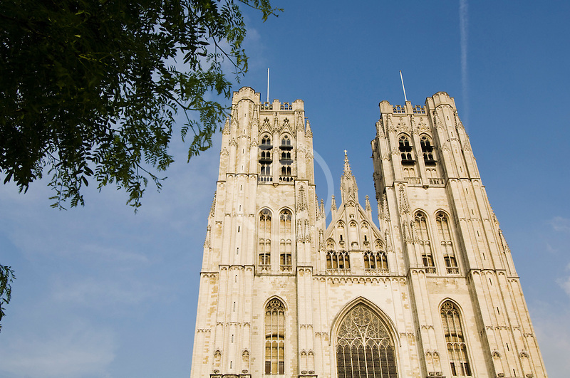 Belgium, Brussels, Cathedral of St. Michael and St. Gudula