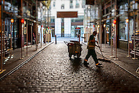 Road Sweeper, Leadenhall Market, London, Britain - Aug 2011