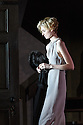 """THE RED BARN, by David Hare, based on the Georges Simenon novel """"La Main"""", opens in the Lyttelton, at the National Theatre. Directed by Robert Icke, with lighting design by Paule Constable, and design by Bunny Christie. Elizabeth Debicki (Mona Sanders)."""
