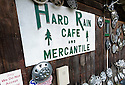 WA11256-00...WASHINGTON - Hard Rain Cafe and Mercantile in the Hoh River Valley.