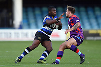 Levi Davis of Bath United in possession. Remembrance Rugby match, between Bath United and the UK Armed Forces on May 10, 2017 at the Recreation Ground in Bath, England. Photo by: Patrick Khachfe / Onside Images