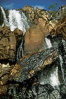 Part of Cachoeira das Cariocas waterfall, Chapada dos Veadeiros national Park, Goias, Brazil.