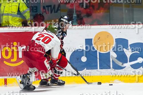 28.12.2015, Ice Rink, Znojmo, CZE, EBEL, HC Orli Znojmo vs HCB Suedtirol, 36. Runde, im Bild v.l. Bret Femming (HCB Sudtirol) Libor Sulak (HC Orli Znojmo) // during the Erste Bank Icehockey League 36nd round match between HC Orli Znojmo and HCB Suedtirol at the Ice Rink in Znojmo, Czech Republic on 2015/12/28. EXPA Pictures © 2015, PhotoCredit: EXPA/ Rostislav Pfeffer