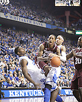 Mississippi State guard Craig Sword attempts a shot but gets shut down by UK defense during the first half of the men's basketball game against Mississippi State at Rupp Arena in Lexington, Ky. on Saturday, February 27, 2013. Photo by Genevieve Adams