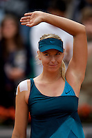 Maria Sharapova (RUS) against Nadia Petrova (RUS) (11) in the second round of the Women's Singles. Sharapova beat Petrova 6-2 1-6 8-6..Tennis - French Open - Day 4 - Wed 27th May 2009 - Roland Garros - Paris - France..Frey Images, Barry House, 20-22 Worple Road, London, SW19 4DH.Tel - +44 20 8947 0100.Cell - +44 7843 383 012