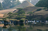 A miniature Mount Fuji has been created out of the hill at the Suizen-ji water garden