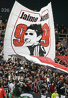 Fans of D.C. United with banner of Jaime Moreno #99 during an MLS match against Toronto FC that was the final appearance of D.C. United's Jaime Moreno at RFK Stadium, in Washington D.C. on October 23, 2010. Toronto won 3-2.