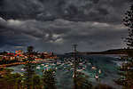 Storm on the Sydney Harbour view from Manly on the North Shore.