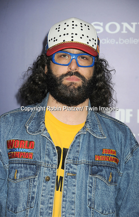 """Judah Friedlander attends the New York Premiere of """"The Ides of March"""" ..on October 5, 2011 at The Ziegfeld Theatre in New York City. The movie stars George Clooney, Marisa Tomei, Evan Rachel Wood, Paul Giamatti, Phillip Seymour Hoffman and Jeffrey Wright."""