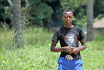 A boy in the Congolese village of Tunda.