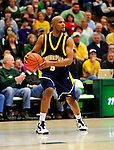 13 December 2009: Quinnipiac University Bobcats' guard Jeremy Baker, a Senior from Washington, DC, in action against the University of Vermont Catamounts at Patrick Gymnasium in Burlington, Vermont. The Catamounts defeated the visiting Bobcats 80-77 to mark the Cats' season home opener with a win. Mandatory Credit: Ed Wolfstein Photo