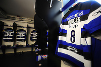 A view of Bath Rugby debutant Zach Mercer's jersey in the changing rooms. Aviva Premiership match, between Bath Rugby and Newcastle Falcons on September 10, 2016 at the Recreation Ground in Bath, England. Photo by: Patrick Khachfe / Onside Images