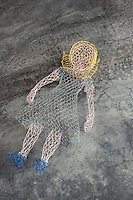 A small sculptured figure in chicken wire by Benedetta Mori Ubaldini