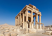 Temple of Baal Shamin. Palmyra, Syria. Ancient city in the desert that fell into disuse after the 16th century.
