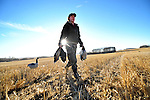 Michelle Zutz collects shot down birds during an all female hunting party organized by  Bittern Lake Lodge near Camrose, Alberta on October 29, 2008. Alberta and B.C. hunting clubs are taking aim at female hunters, which in Alberta are the fastest growing segment of the hunting population. Jimmy Jeong/Epic Photography