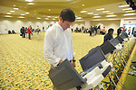 Micah Ginn votes at the Oxford Conference Center in Oxford, Miss. on Tuesday, November 6, 2012.