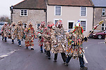 Marshfield Mummers, Boxing Day performance, Gloucestershire, England. 2006. Process to first performance.