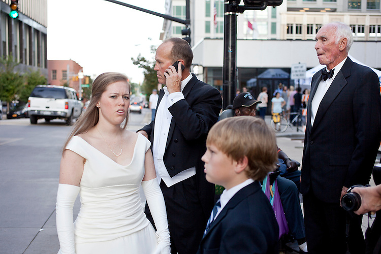 A family on the way to the debutante ball, Hopscotch Music Festival, Raleigh, N.C., Friday, September 7, 2012
