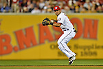 17 May 2012: Washington Nationals shortstop Ian Desmond in action against the Pittsburgh Pirates at Nationals Park in Washington, DC. The Pirates defeated the Nationals 5-3 in the second game of their 2-game series. Mandatory Credit: Ed Wolfstein Photo