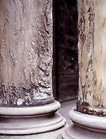 ACID RAIN DAMAGE TO MARBLE COLUMNS<br />