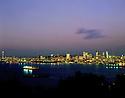 AA00011-01...WASHINGTON - A 1982 photo of sunset on Elliott Bay and the Seattle skyline from West Seattle.