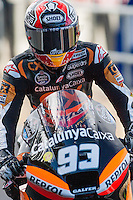 Marc Marquez enters in Boxes in qualifying day